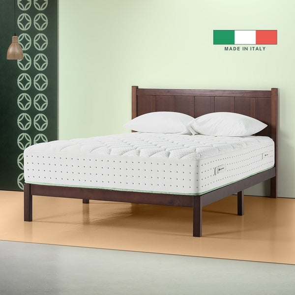 Priage by Zinus Italian Made 12 Inch Olive Oil Memory Foam Hybrid Spring Mattress. Opens flyout.