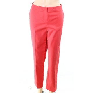 Vince Camuto NEW Guava Orange Womens Size 10 Slim Ankle Dress Pants