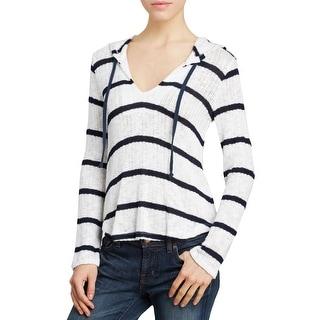 Splendid Womens Hooded Sweater Knit Striped - m
