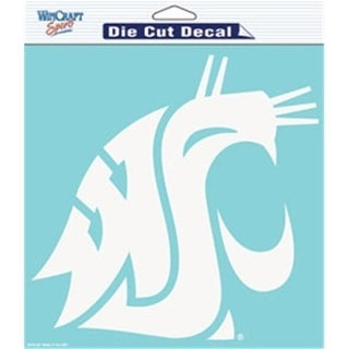 Washington State Cougars Decal 8x8 Die Cut