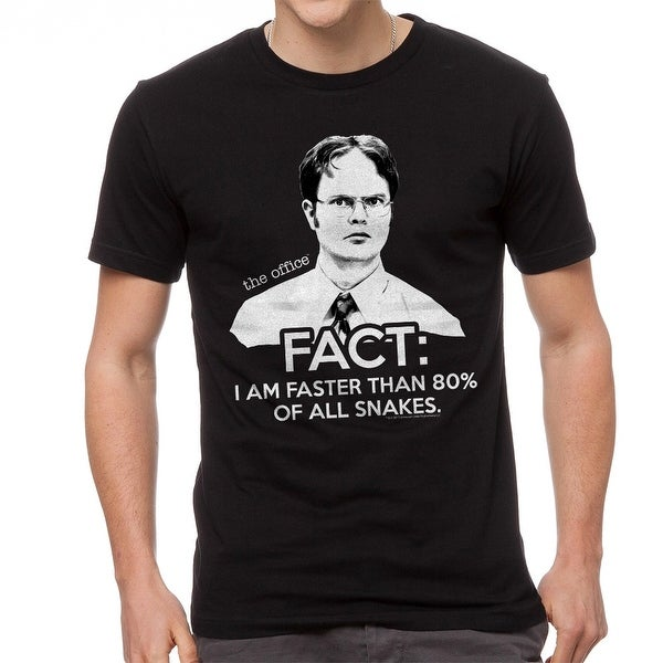 09d48d848 Shop The Office Dwight Schrute I Am Faster Than 80% Snakes Quote Men's  Black T-shirt - On Sale - Free Shipping On Orders Over $45 - Overstock -  19855538