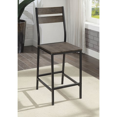 Furniture of America Vae Transitional Brown Counter Chairs (Set of 2)
