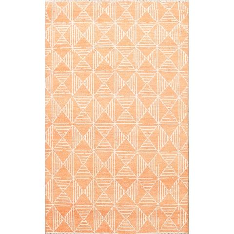 "Geometric Oriental Modern Home Decor Area Rug Wool Hand-knotted - 5'7"" x 7'9"""