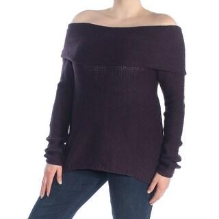 FRESHMAN FOREVER Womens Purple Off Shoulder Sweater Juniors  Size: XL