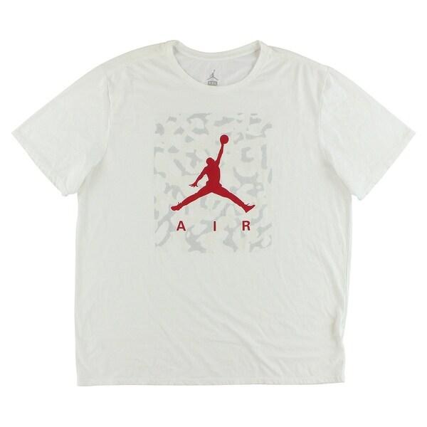 ebfeb5d194e2 Shop Jordan Mens Jumpman Ele Camo Dri Fit Shirt White - white red - Free  Shipping On Orders Over  45 - Overstock - 22615381
