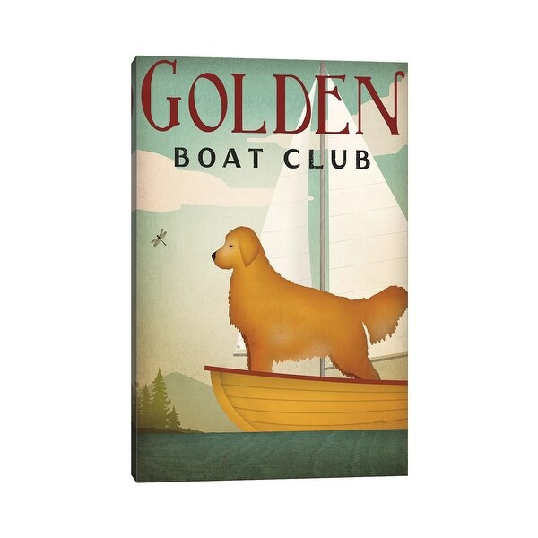 """iCanvas """"Golden Boat Club"""" by Ryan Fowler Canvas Print. Opens flyout."""