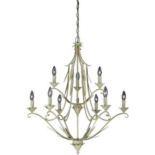 Vaxcel Lighting H0109 Austen 9 Light Two Tier Chandelier - 31 Inches Wide