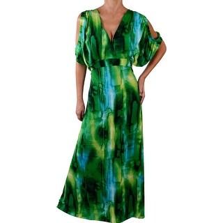 Funfash Plus Size Women Sexy Black Green Long Maxi Dress Made in USA