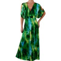 Funfash Plus Size Women Sexy Black Green Long Maxi Dress Made in USA