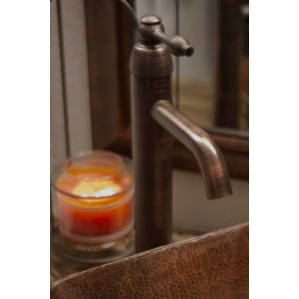 Premier Copper Products B-VF01ORB Single Handle Bathroom Vessel Faucet in Oil Rubbed Bronze. Opens flyout.