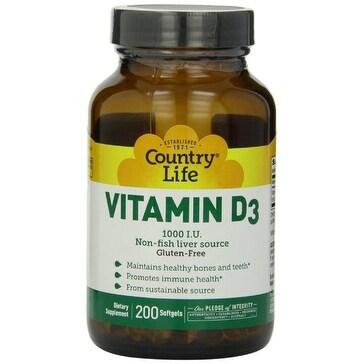 Country Life Vitamin D3 1000 IU - 200 Softgels
