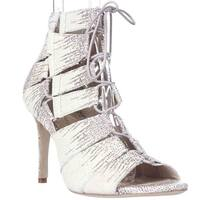 Loeffler Randall Lottie Lace-up Dress Sandals, Cream
