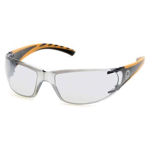 Harley-Davidson Men's Kickstart Sunglasses, Black Frames & Silver Mirror Lens - 00-00-136