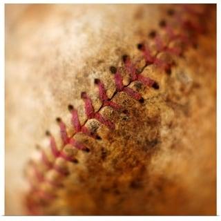 """Seam on antique baseball"" Poster Print"