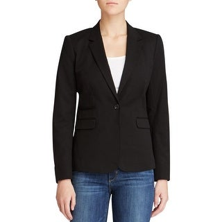 Vince Camuto Womens One-Button Blazer Notch Lapel Woven
