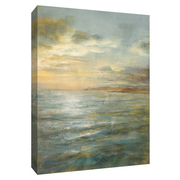 """PTM Images 9-154785 PTM Canvas Collection 10"""" x 8"""" - """"Serene Sea III"""" Giclee Waves Art Print on Canvas"""