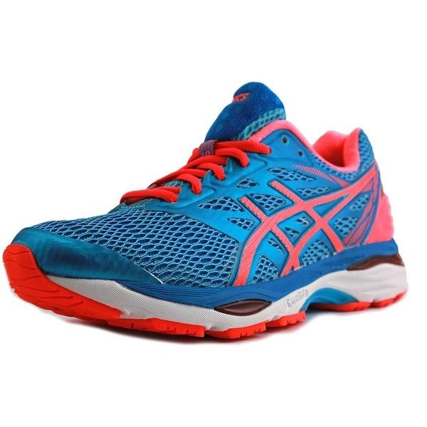 Asics Gel-Cumulus 18 Women Aquarium/Flash Coral/Blue Jewel Running Shoes