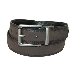 Dickies Men's Leather 1.25 Inch Reversible Belt with Roller Buckle - brown to black