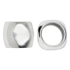 Climbing Rope Findings, Smooth Tube Spacer 15x12mm, 1 Piece, Antiqued Silver