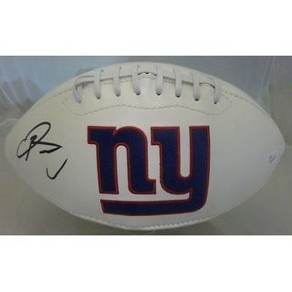 Odell Beckham Jr Autographed New York Giants White Panel Football JSA