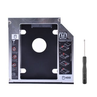 12.7mm Universal CD DVD-ROM Optical Bay SATA to SATA 2nd HDD SSD Caddy