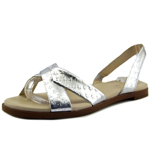 Cole Haan Anica Sling Women Silver Metallic Sandals