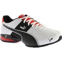 PUMA Men's Cell Surin 2 FM Sneaker Puma White/Puma Black/Flame Scarlet