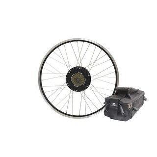 "ELECTRIC BIKE TECHNOLOGIES 500-watt Rear Bike Motor Kit 26"" Rear Wheel Geared Motor w/ 48v9Ah Lead-Acid Battery Pa"