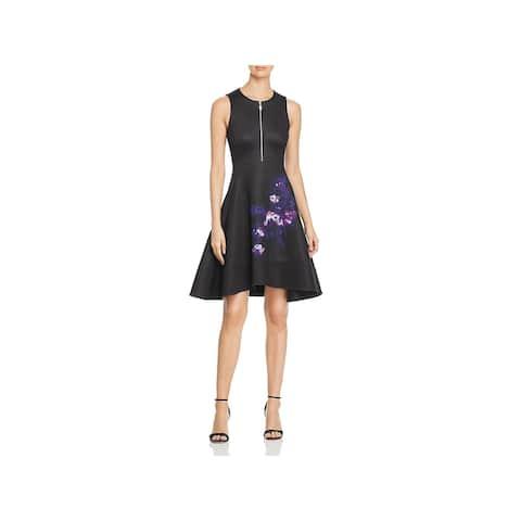 Donna Karan Womens Scuba Dress A-Line Knee-Length