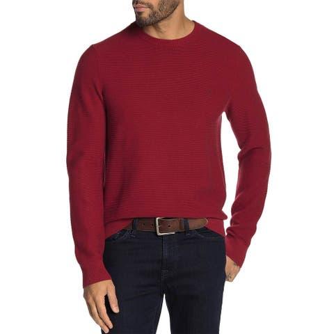 Original Penguin Mens Ribbed Crew Neck Sweater Small Biking Red