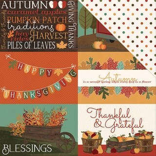 """Autumn Orchard Double-Sided Cardstock 12""""X12""""-Blessed"""