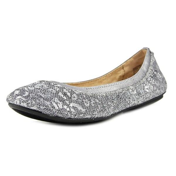2ea8217f285 Shop Bandolino Edition Women Round Toe Canvas Silver Flats - Free ...