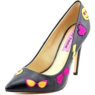 Betsey Johnson Papii Women  Pointed Toe Synthetic Black Heels