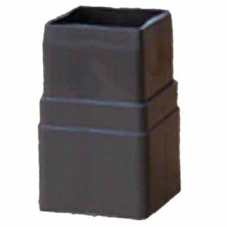 "Genova RB203 Raingo Downspout Coupler, 4.3"" L x 2.1"" W x 2.7"" H, Vinyl, Brown"