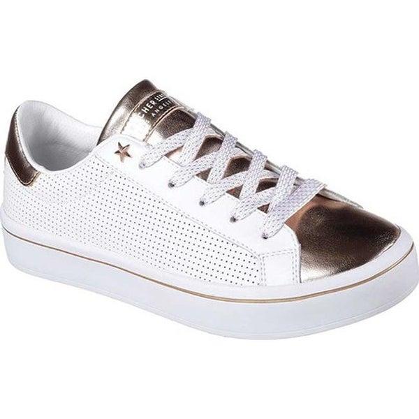 69e2683d3b97 Skechers Women  x27 s Hi Lite New York Nights Sneaker White Rose Gold