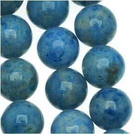 Denim Lapis Lazuli Round Beads 8mm / 16 In. Strand