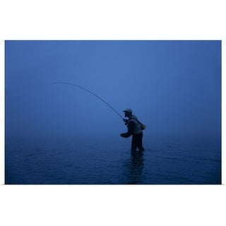 """Fly fisherman"" Poster Print"