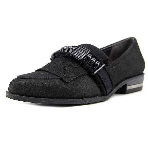 Fergie Ivy Women Pointed Toe Leather Black Loafer