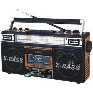 Supersonic Retro 4-band Radio & Cassette Player (wood)