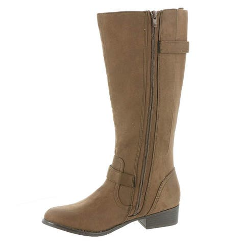 Mia Womens Luise Leather Almond Toe Knee High Fashion Boots - 10