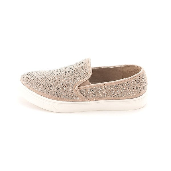Bebe Womens Sharlene Suede Low Top Pull On Fashion Sneakers