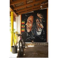 Bob Marley mural at Blazer on the Bay bar and restaurant - Multi-color