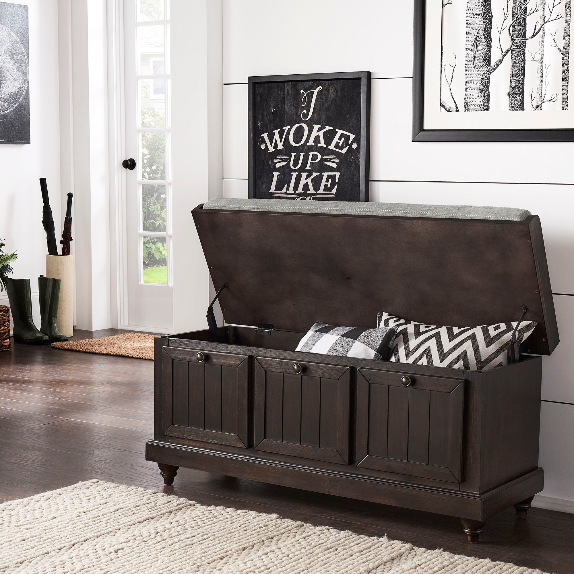 Picture of: Granger Storage Bench With Linen Seat Cushion By Inspire Q Classic On Sale Overstock 30034440