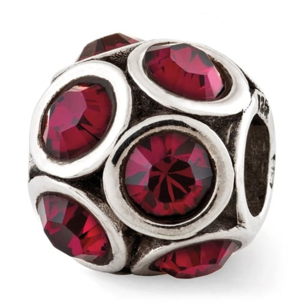 Sterling Silver Reflections July Swarovski Elements Bead (4mm Diameter Hole)