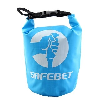 SAFEBET Authorized Water Resistant Bag Roll Top Dry Sack Blue 2L for Rafting