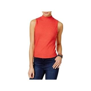 Shift Womens Juniors Pullover Top Knit Sleeveless - S