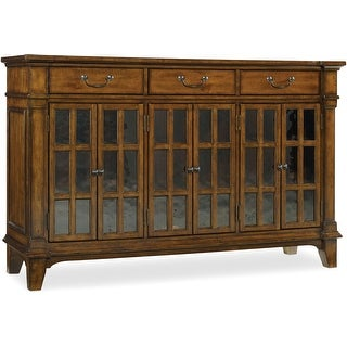"""Hooker Furniture 5323-75900  66"""" Wide Poplar Wood Cabinet from the Tynecastle Collection - Warm Chestnut"""