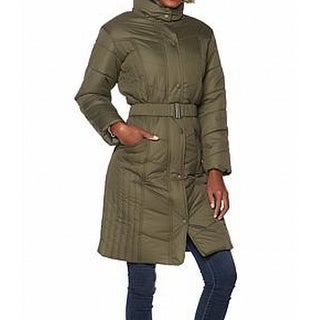 Sporto NEW Green Womens Size XL Water-Resistant Quilted Faux-Fur Coat