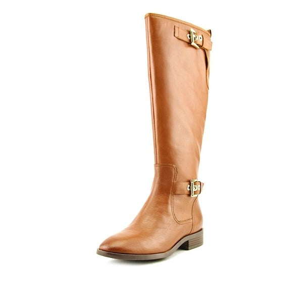 Nine West Bring It Women Round Toe Leather Tan Knee High Boot