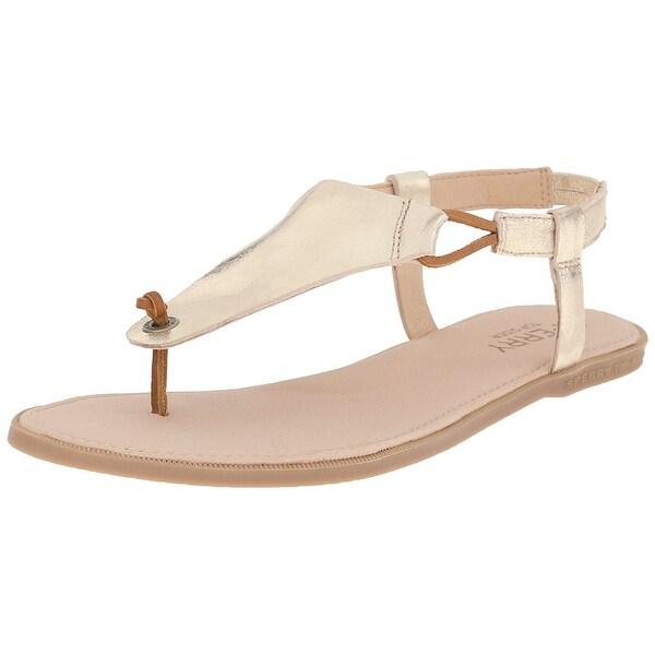 e17e592b2e4 Shop Sperry Womens Calla Jade Leather Open Toe Casual Ankle Strap ...